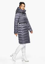 Воздуховик Braggart Angel's Fluff 44860| емчужно-серая куртка женская зимняя длинная, фото 3