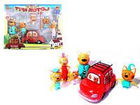 """Игровой набор """"Три Кота"""", с машиной, три кота,мягкие игрушки,детские игрушки"""