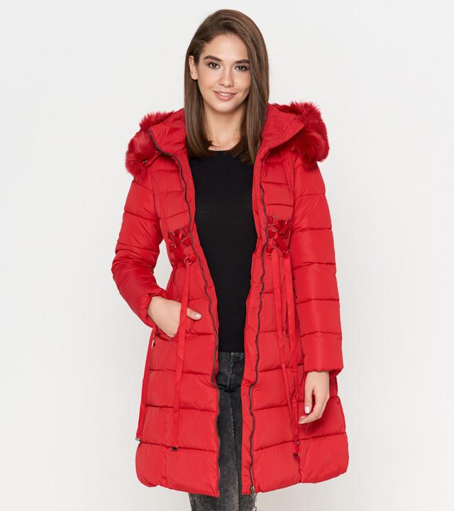 Tiger Force 1816 | Зимняя женская куртка красная  50 (L)