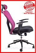 Офисное кресло Barsky Fly-02 Butterfly Black/Bordo, сеточное кресло