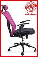 Офисное компьютерное кресло Вarsky Вutterfly black fly-02 bordo