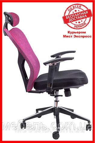 Офисное кресло Barsky Fly-02 Butterfly Black/Bordo, сеточное кресло, фото 2