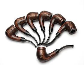 Курительная трубка Шерлока Холмса KAF232 Bent Volcano из дерева груши с нанесением лазерной гравировки