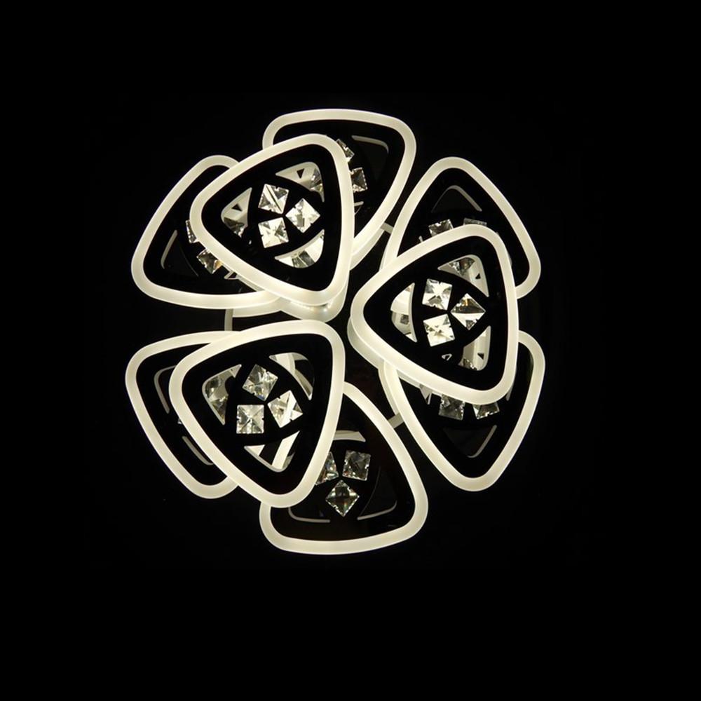Светодиодная LED люстра СветМира 160 Вт с подсветкой и регулировкой яркости LS-7124/6+3