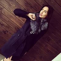 Пальто женское зимнее Венера серый мех , зимнее пальто