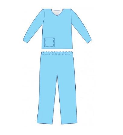 Костюм медицинский «Славна®» с коротким рукавом (сорочка и брюки) н/ст р.54-56 (ХL) СМС