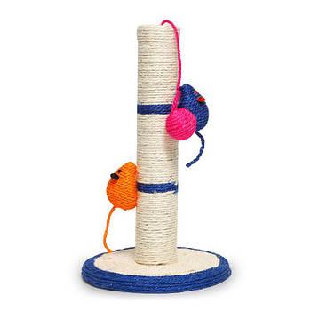 Когтеточка для кота Taotaopets 011115 столбик с игрушками 41*24*7см