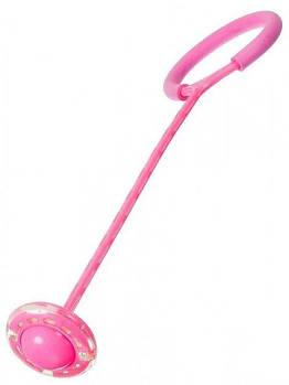 Скакалка на одну ногу з Led підсвічуванням Рожева
