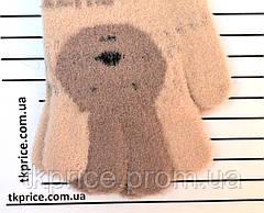 Детские одинарные перчатки для девочки - длина 14 см, фото 3