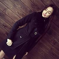 Пальто женское зимнее Венера черный мех , зимнее пальто