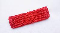 Повязка резинка детская  Красная 4 см ширина