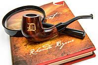 Классическая курительная трубка KAF229 Bent под фильтр 9 мм с нанесением лазерной гравировки