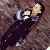 Пальто женское зимнее Марианна серый мех , зимнее пальто