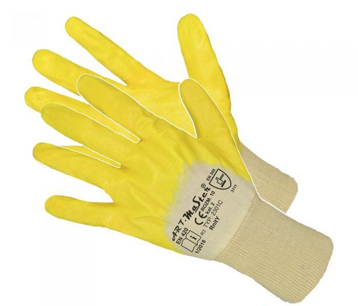 Защитные перчатки ArtMas RNITz, Желтый, 7