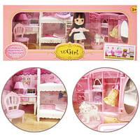 """Кукла со спальней """"VС Girl"""", мебель для куклы,домик для кукол,кукольные домики,игрушки для девочек"""