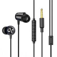 Наушники проводные вакуумные с микрофоном гарнитура BASEUS Encok Wired Earphone H13 Черный