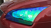 Тонировочная пленка хамелеон 100 х 30 см (Синяя). Автомобильная виниловая плёнка на фары