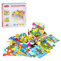 """Деревянная игра """"Мозаика"""", с болтиками, ViVi Wood Toy, Мозаика для самых маленьких,Игра мозаика для детей"""