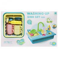 """Игровой набор """"Мойка"""", голубая, игрушки для девочек,дитяча кухня,Игрушечный набор посуды"""
