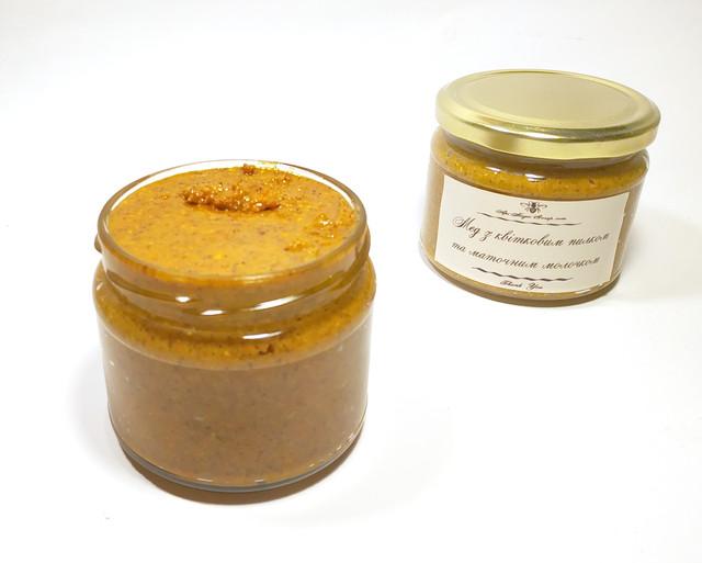 Мед с пыльцой и нативным маточным молочком 400 грамм