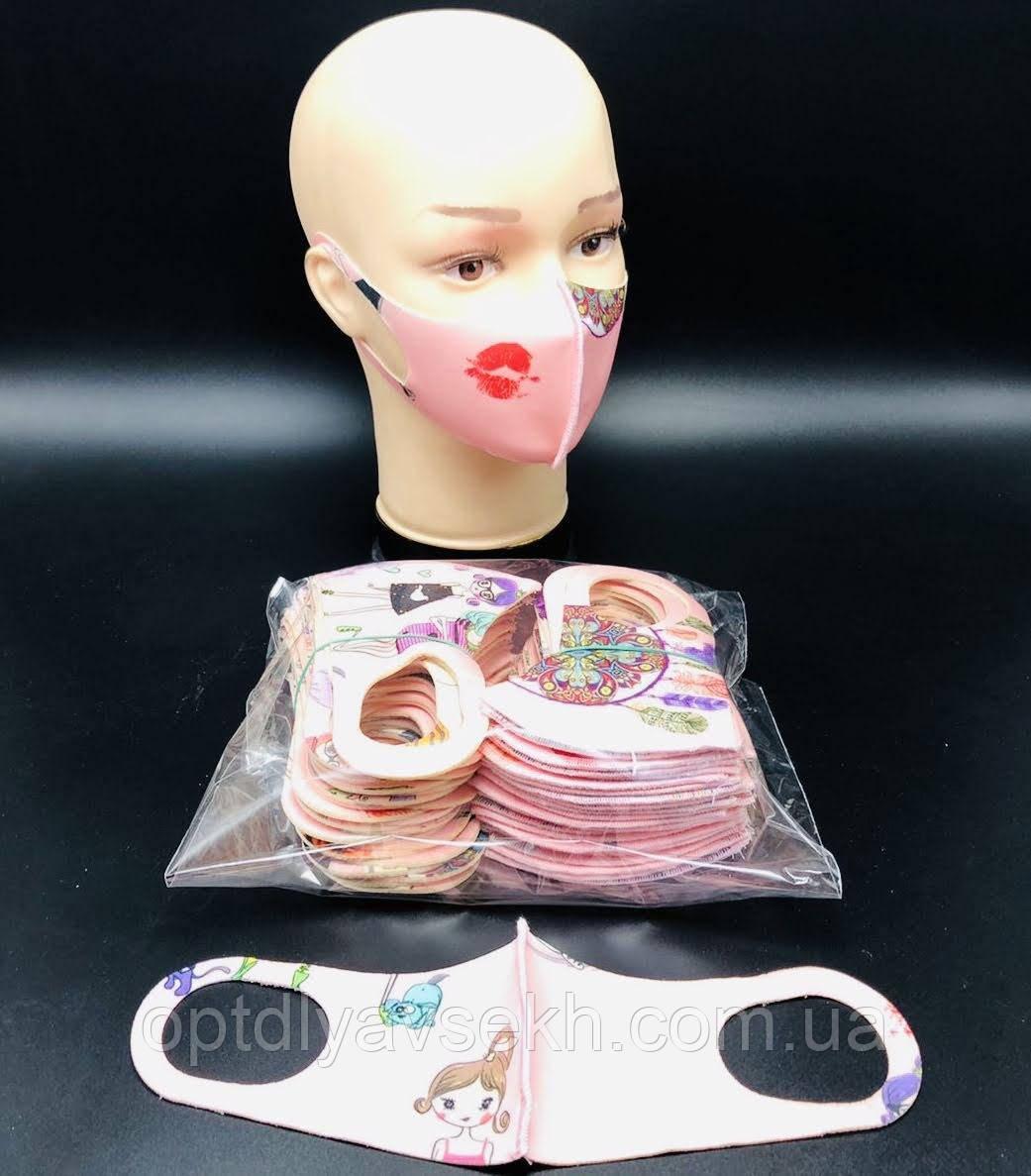 Детская защитная многоразовая маска питта