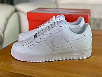 Кроссовки белые низкие натуральная кожа Nike Air Force Найк Аир Форс (36,37,38,39)