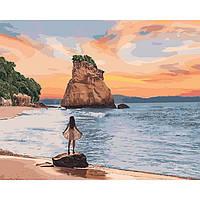 "Картина по номерам ""Необитаемый остров"" 40*50см KHO4727, картины по номерам,раскраски с номерами,рисование"