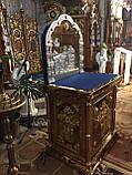Церковный жертвенник с аркой и иконой (из булата), фото 2