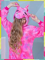 Пижама Кигуруми Единорог Магический (Розовая Звездочка) на молнии для взрослых и детей унисекс S
