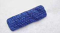 Повязка резинка детская Синяя 4 см ширина, фото 1
