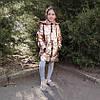 Детская демисезонная куртка пальто для девочки золотистая блеск 4-5 лет, фото 3