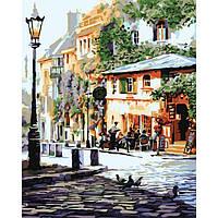 """Городской пейзаж """"Уютное кафе"""" KHO2150, картины по номерам,раскраски с номерами,рисование по номерам,картина"""