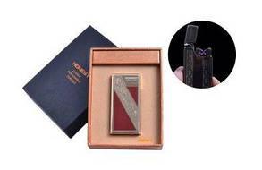 """USB зажигалка в подарочной упаковке """"Honest"""" (Электроимпульсная - две перекрещенные молнии) №4836-4"""