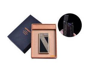 """USB зажигалка в подарочной упаковке """"Honest"""" (Электроимпульсная - две перекрещенные молнии) №4836-3"""
