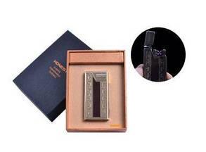 """USB зажигалка в подарочной упаковке """"Honest"""" (Электроимпульсная - две перекрещенные молнии) №4836-12"""
