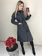Жіноче пальто з кашеміру