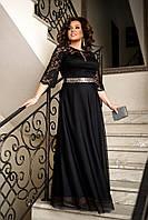 Платье нарядное в пол больших размерах