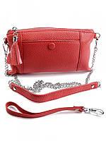 Женский кожаный кошелек-косметичка NO-961 Red, фото 1