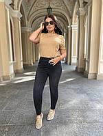 Стильные женские джинсы американка черные. Высокая посадка, зауженые.