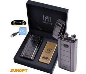 Электроимпульсная зажигалка HASAT (USB) №4771-2