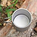 Титановая термокружка туристическая Lixada 450 мл. Чашка из титана. Титановая посуда, кружка, фото 8