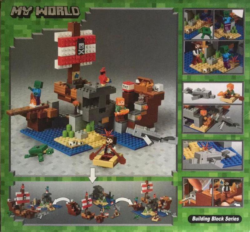 Конструктор 11170  My World Приключения на пиратском корабле, 404 детали