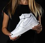 Кроссовки мужские NIKE белые кожаные М0163, фото 2