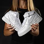 Кроссовки мужские NIKE белые кожаные М0163, фото 3