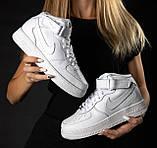 Кроссовки мужские NIKE белые кожаные М0163, фото 4