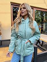 Осенняя  женская  куртка с капюшоном норма и батал  новинка 2020, фото 1