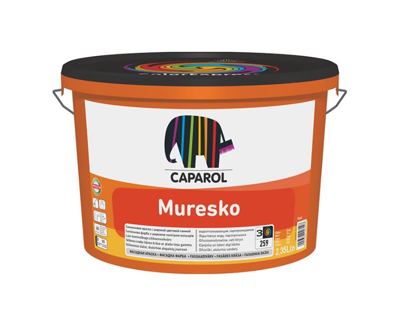 Краска силикон-акриловая CAPAROL MURESKO ПОЛЬША фасадная B3-транспарентная 2,35л