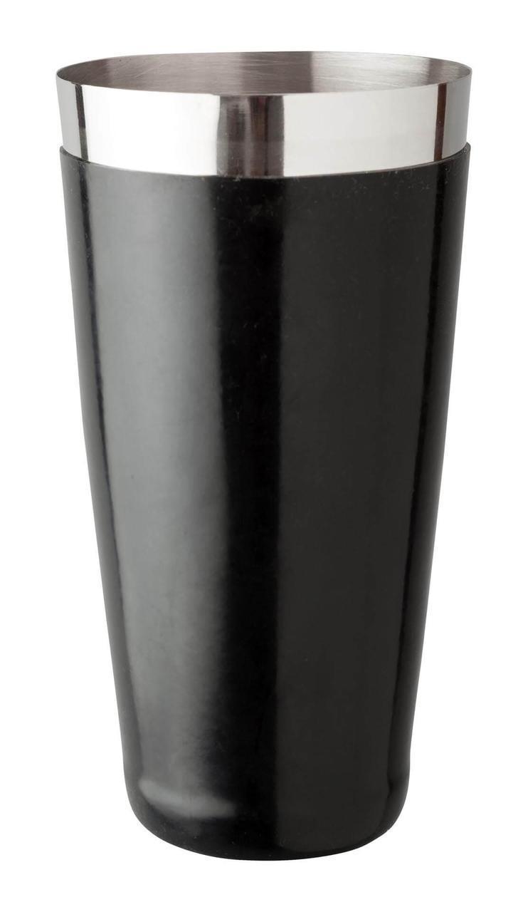 Шейкер Beaumont Бостон нержавеющая сталь и винил, чёрный 828 мл (3672)