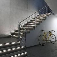 Алюмінієвий профіль з підсвіткою для сходів