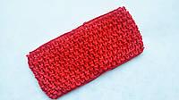 Повязка резинка детская Красная 7 см ширина